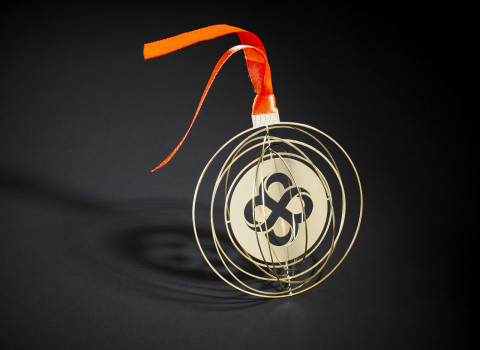 Boule de Noël personnalisée, originale et distinctive, à offrir comme cadeau de fin d'année à vos clients