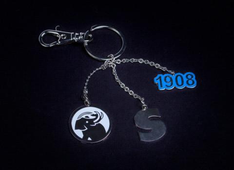 Fabrication d'un porte-clés prestige personnalisé en métal argenté