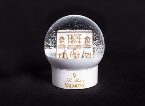 Fabricant de boule à neige haut de gamme personnalisée, sur la base d'un bâtiment
