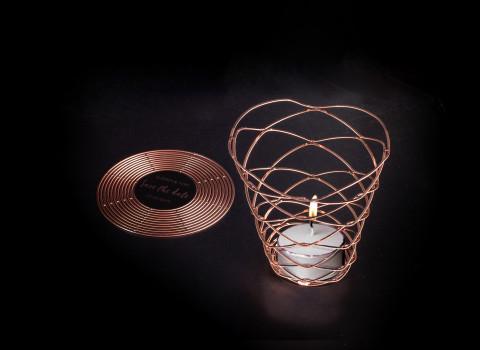 Concept pop-up de photophores luxes et personnalisés en métal