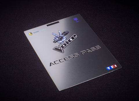 Fabrication d'un pass VIP personnalisé en inox