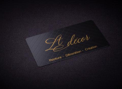 Fabrication de cartes de visite luxes personnalisées, finition noir mat
