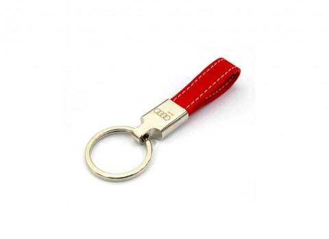Ref IMPPOR04 - Fabrication d'un porté clé luxe en cuir, finition nickel, comprenant une gravure laser
