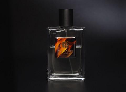 Plaque décorative personnalisée en métal pour flacon de parfum