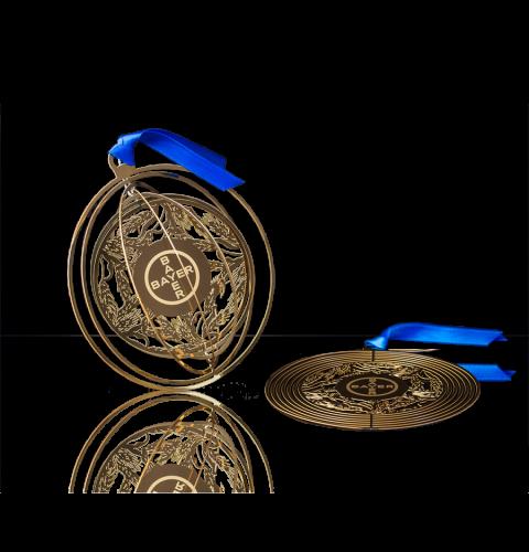 Boule de Noël publicitaire en métal | Boule de Noël personnalisée avec logo